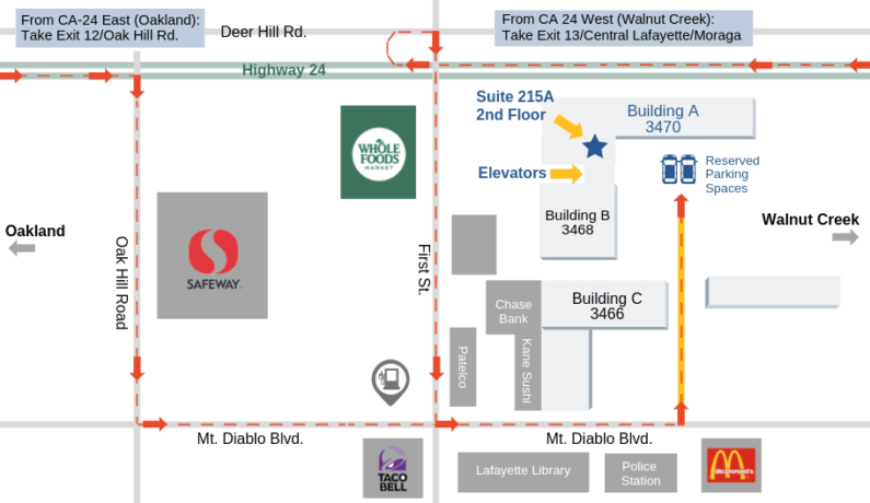Capital Advantage Office Parking Map