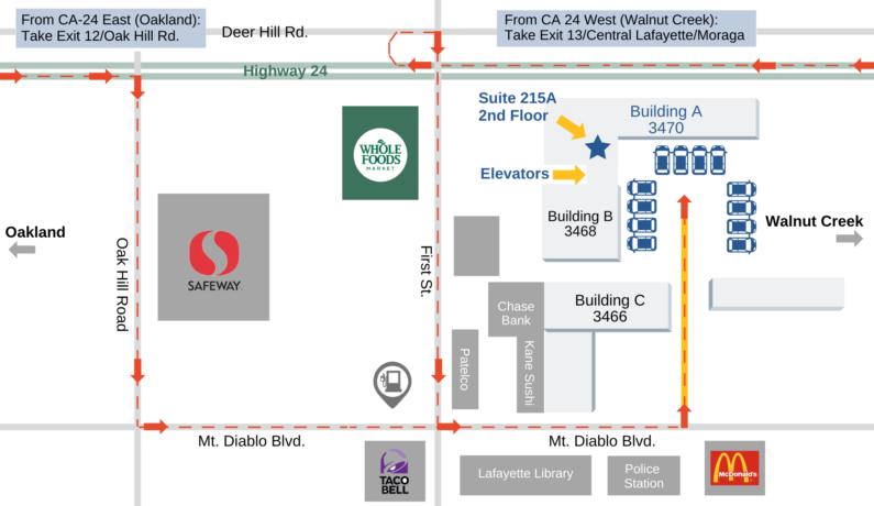 Capital Advantage Office Parking Map
